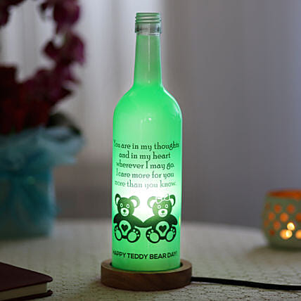 Teddy Day Bottle Lamp