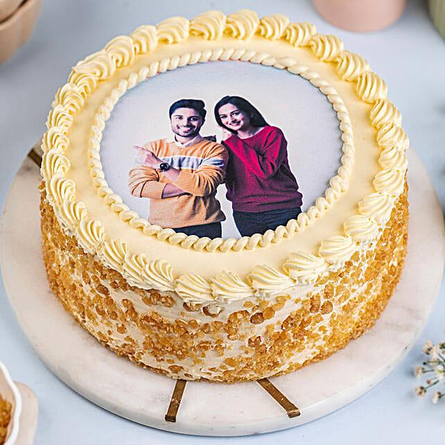 Round Butterscotch Photo Cake 1kg