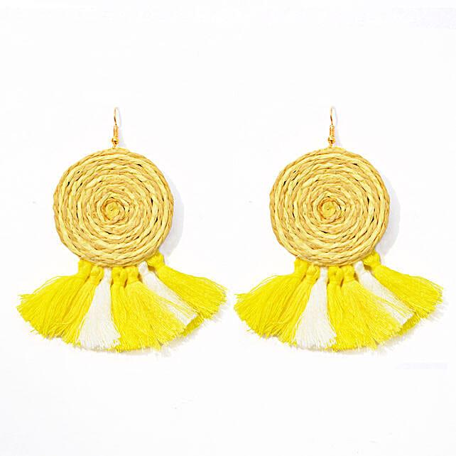 Summer Day Yellow Earrings
