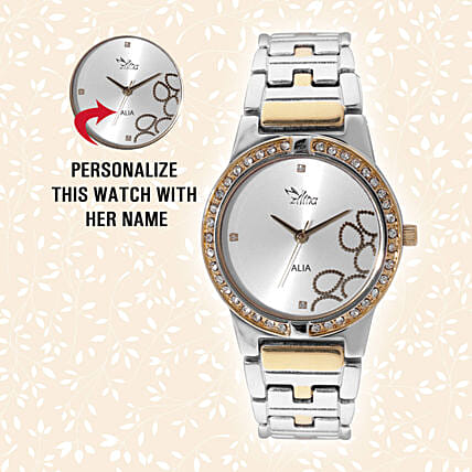 Personalised Glistening Watch For Her