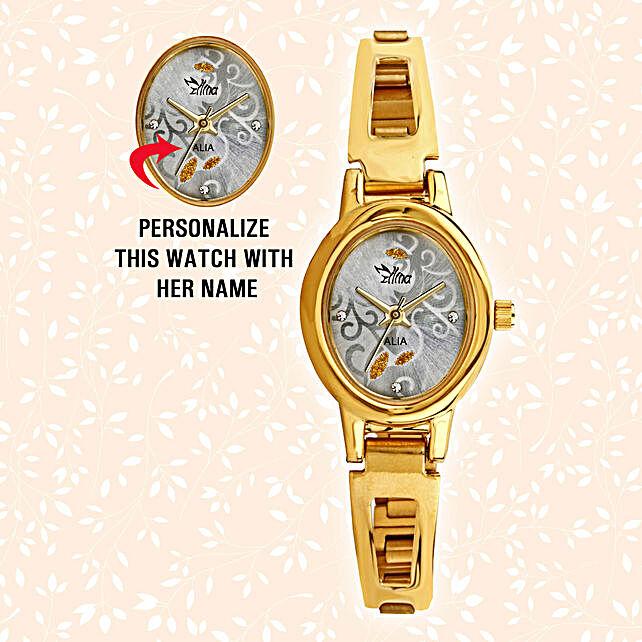 Personalised Sleek Oval Watch