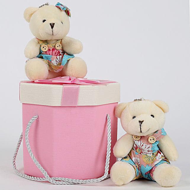 Teddy Bears in Pretty Pink Box