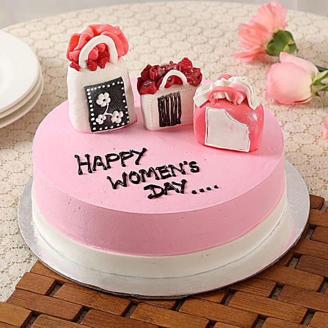 Women's Day Designer Vanilla Cake- 1.5 Kg Eggless