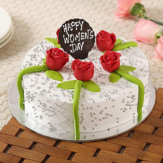 Women's Day Floral Butterscotch Cake- 1 Kg