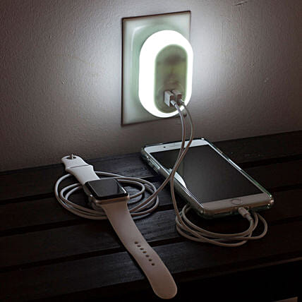 2 in 1 Night Light USB Charger