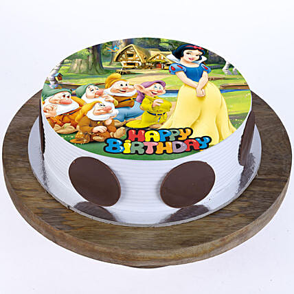 Disney theme printed cake