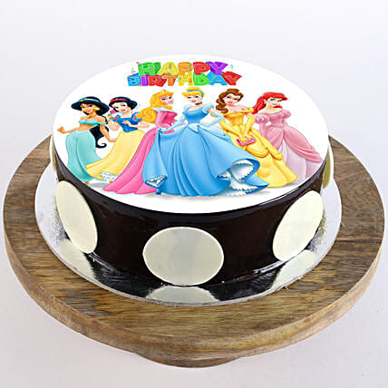 photo cake of Disney princess