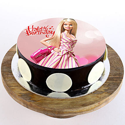 Cute Barbie photo cake