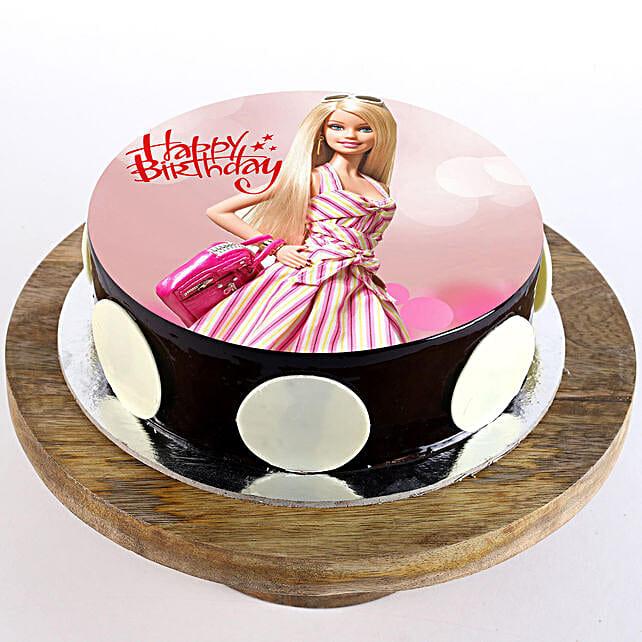 Cute Barbie photo cake:Barbie Cakes