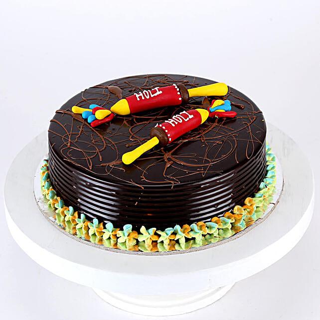 Holi Special Pichkari Truffle Cake- Half Kg