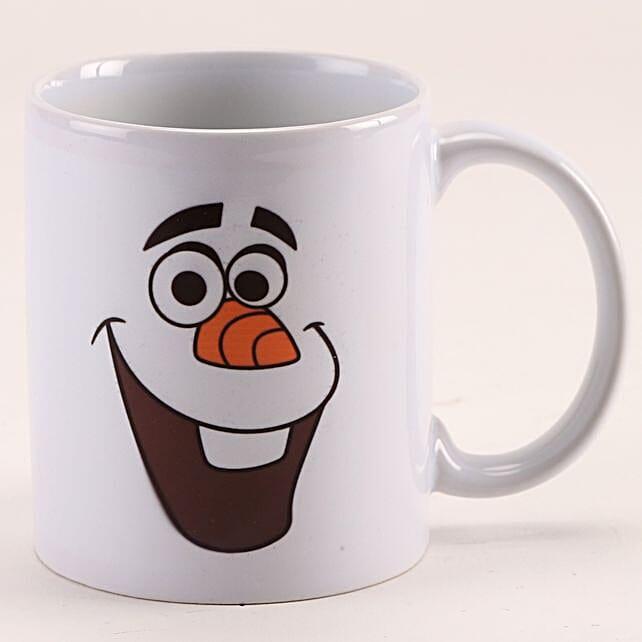 Happy Face Funny Printed White Mug