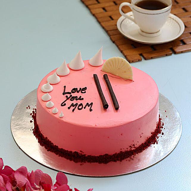 Cream Drop Vanilla Cake For Mom- Half Kg Eggless