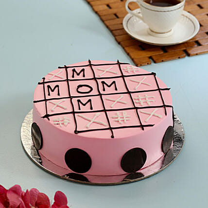 Tic Tac Toe Pineapple Cake For Mom- Half Kg
