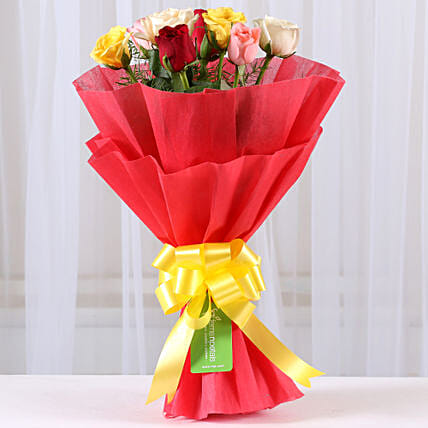 Special 8 Mixed Roses Bouquet