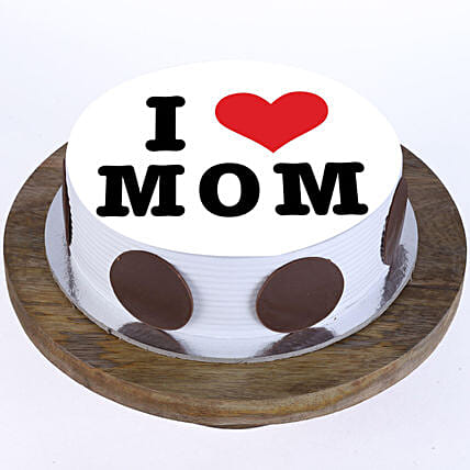 I Love Mom Pineapple Photo Cake- 2 Kg