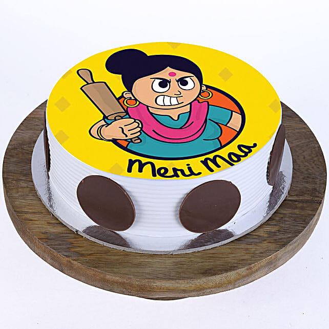 Meri Maa Vanilla Photo Cake- 1 Kg Eggless