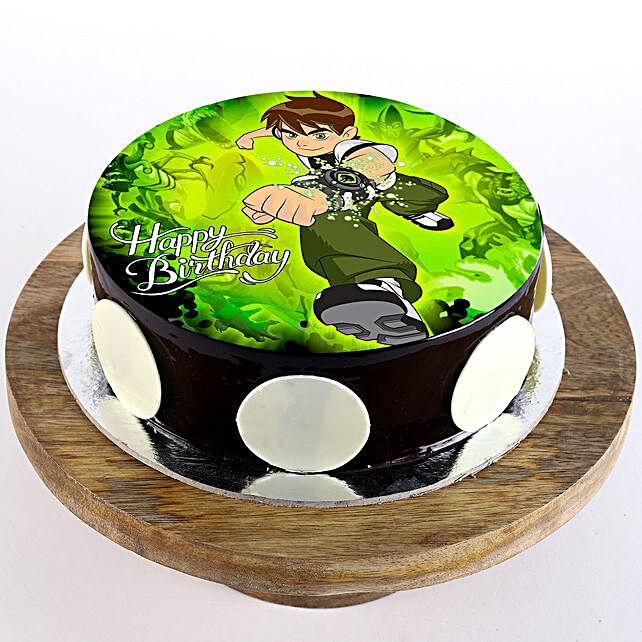 Ben Ten Chocolate Truffle Photo Cake- 2 Kg Eggless