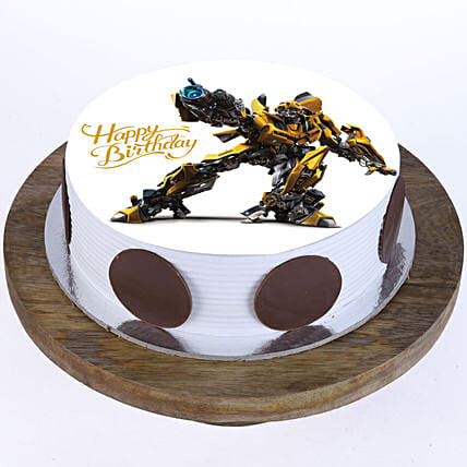 Online Bumblebee Photo Cake For Kids