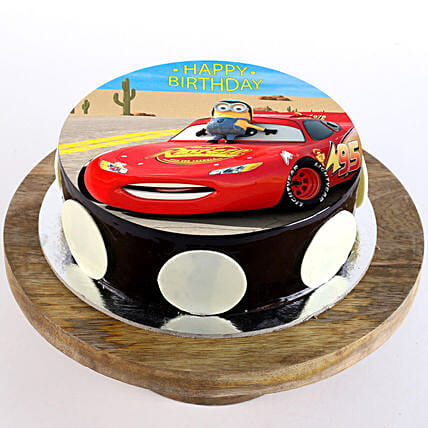Buy Send Mcqueen Chocolate Photo Cake 2 Kg Online Ferns N Petals