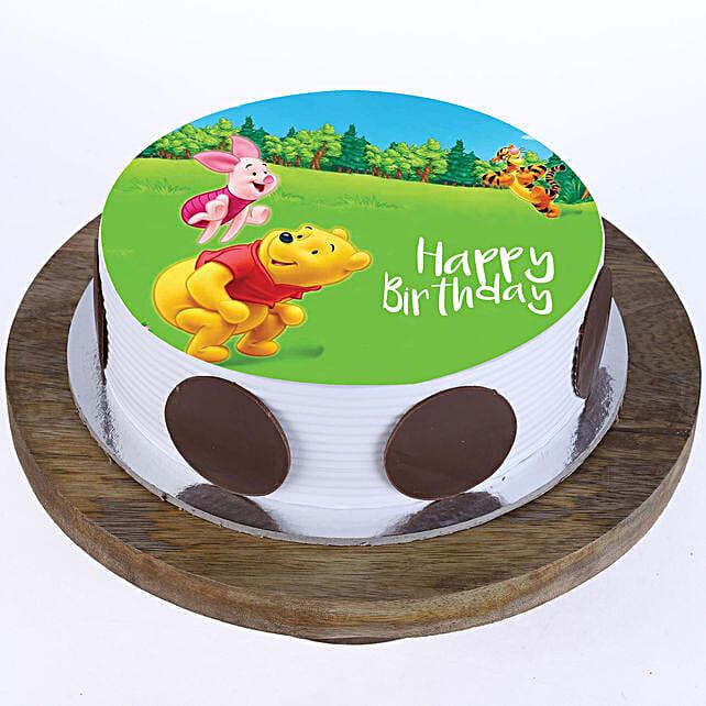 Pooh & Piglet Photo Cake- Pineapple 2 Kg Eggless
