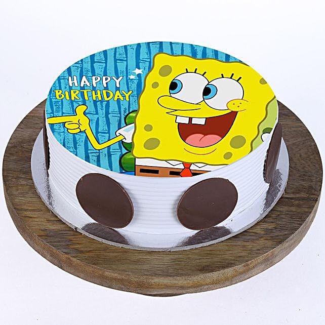 Stupendous Spongebob Photo Cake Vanilla 1 Kg Gift Spongebob Cake Online Birthday Cards Printable Nowaargucafe Filternl