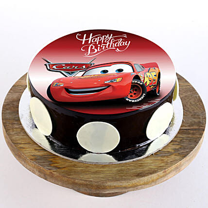 Stupendous The Cars Chocolate Photo Cake 1 Kg Eggless Gift Disney Car Funny Birthday Cards Online Alyptdamsfinfo
