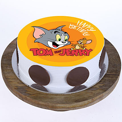 Online Tom n Jerry Photo Cake For Kids:Send Cartoon Cakes