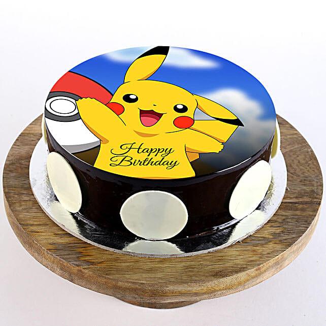 Pikachu Chocolate Photo Cake- 1 Kg