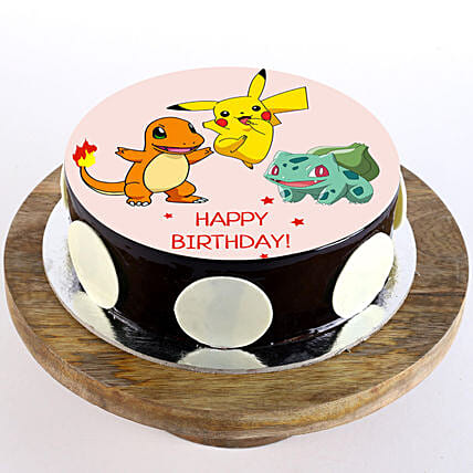 Pleasant Pokemon Chocolate Truffle Photo Cake 2 Kg Gift Pokemon Personalised Birthday Cards Bromeletsinfo