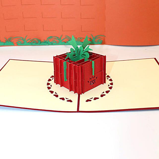 Handmade 3D Pop Up Diamond Ring Box Card