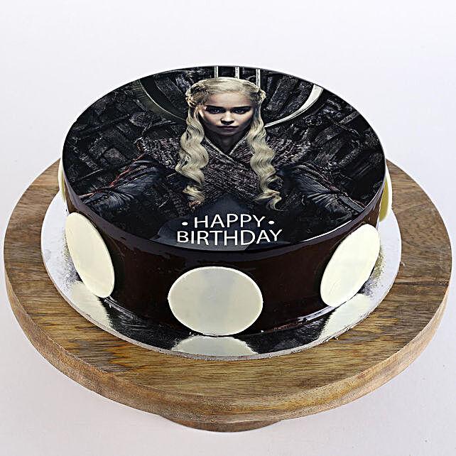 Danaerys Targaryen Chocolate Photo Cake- 2 Kg