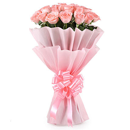 Pink Perfection - Bunch of 25 Pink Roses.