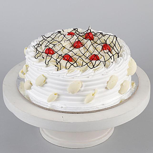Decadent White Forest Cake- Half Kg Eggless
