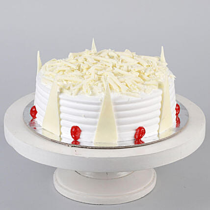 Tempting White Forest Cake- 1 Kg