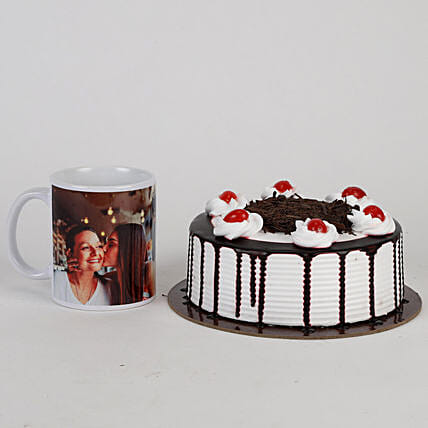 Black Forest Cake and Mug Combo For Mothers' Day