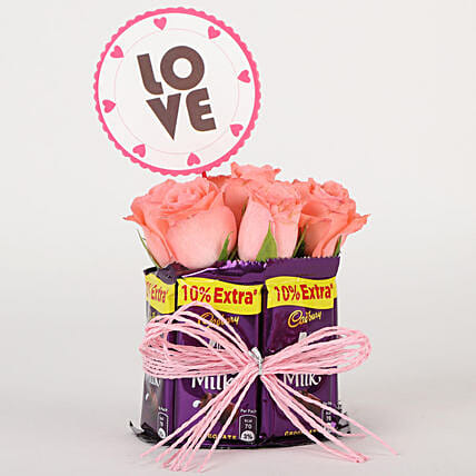 Chocolate and Flower Gift Combo Online