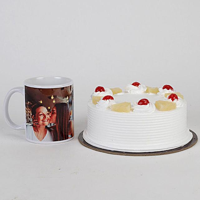 Mothers' Day Pineapple Cake and Mug Combo