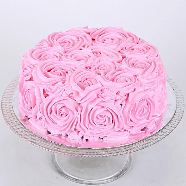 Floral Chocolate Cake Half Kg