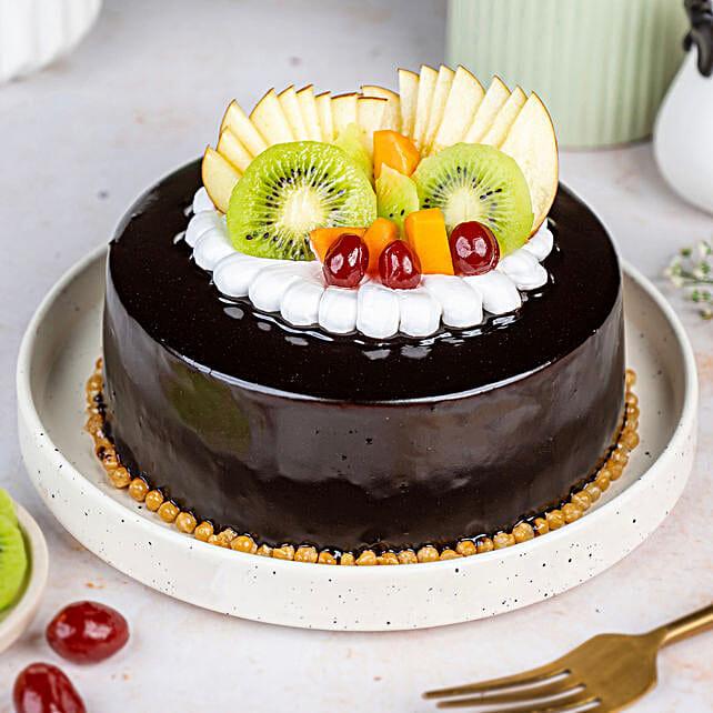 Fruit Chocolate Cakes Half kg Eggless