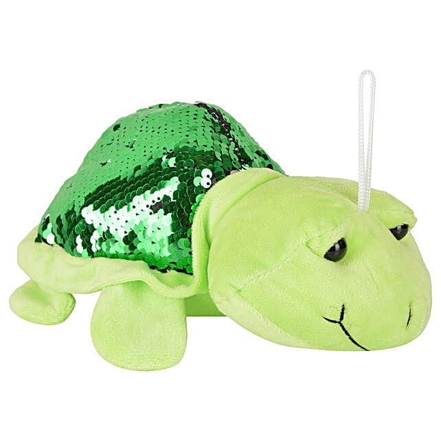 Adorable Plush Tortoise Soft Toy- Light Green