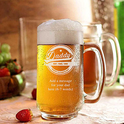 printed beer mug for dad:Bar Accessories For Father's Day
