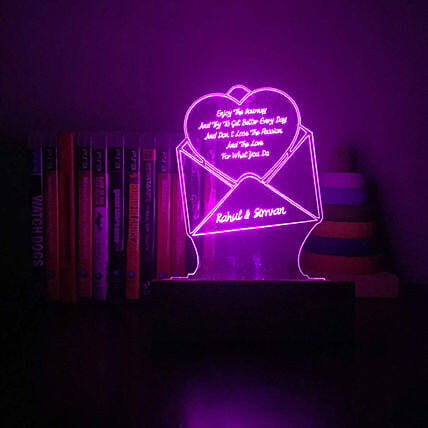 Personalised Letter Shaped Night Lamp