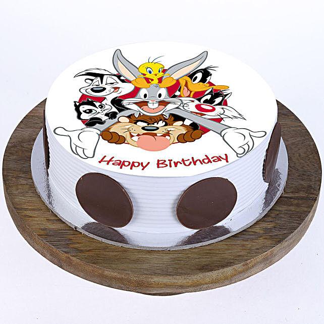Looney Tunes Photo Cake- Vanilla Half Kg