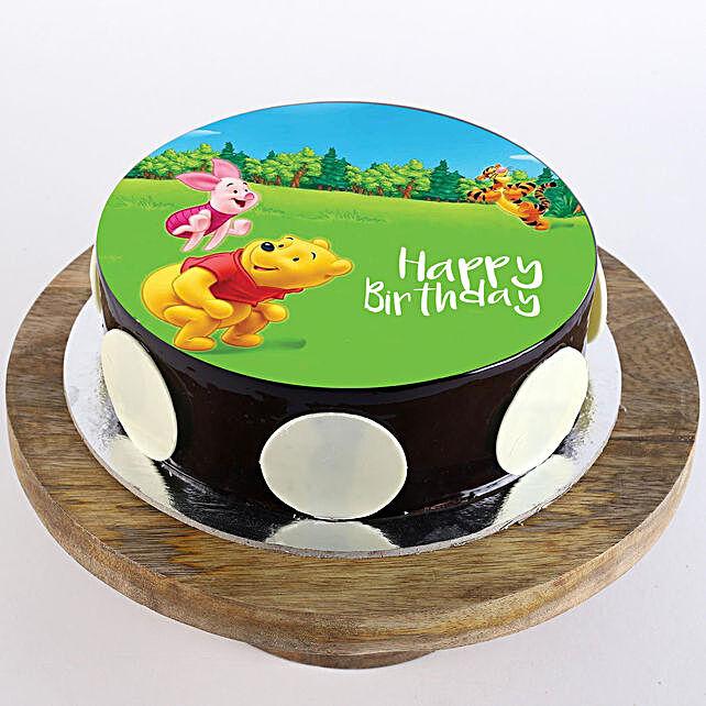Pooh & Piglet Chocolate Truffle Photo Cake- Half Kg