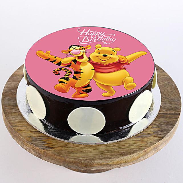 Fabulous Pooh Amp Tigger Chocolate Photo Cake Half Kg Gift Cartoon Funny Birthday Cards Online Fluifree Goldxyz