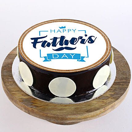 Father's Day Photo Cake- Chocolate 2 Kg