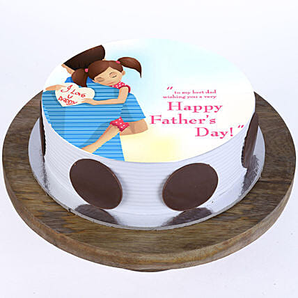 Happy Father's Day Photo Cake- Pineapple 2 Kg Eggless