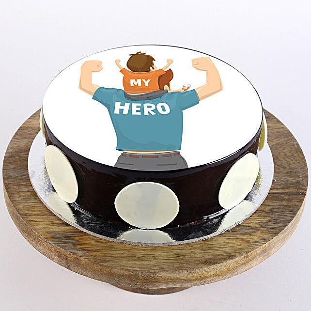 My Hero Photo Cake- Truffle 1 Kg Eggless