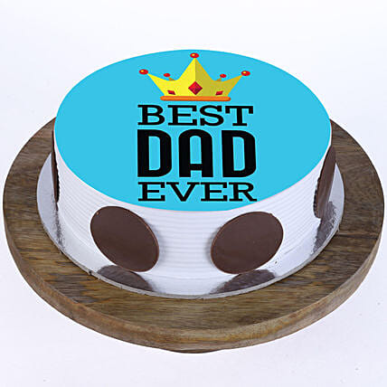 Outstanding Best Dad Ever Photo Cake Pineapple 2 Kg Eggless Gift Online Funny Birthday Cards Online Elaedamsfinfo