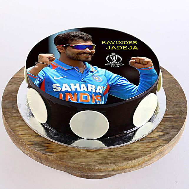 Ravindra Jadeja Photo Cake- Truffle 2 Kg